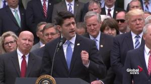 Jubilant Paul Ryan thanks White House for help passing healthcare