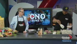 In the Global Edmonton kitchen with Ono Poke Co.