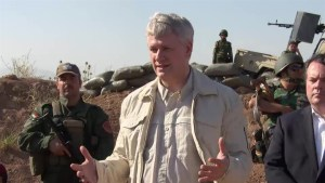 Harper comments on Sgt Andrew Doiron's death while touring Iraq