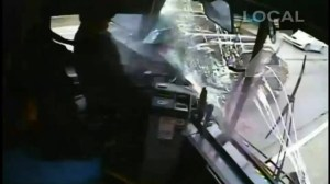 Sleepy bus driver causes horrific bus accident caught on video