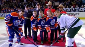 RCMP Const. David Wynn honoured at Oilers game