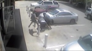 Karate clerk beating up robbers caught on security camera