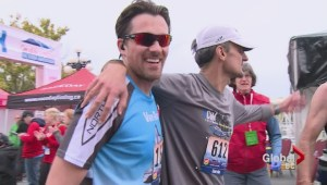 Visually impaired runner completes Victoria run