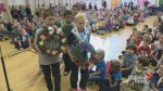 Elementary students gather to honour veterans