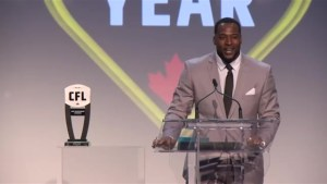 Calgary Stampeders Jerome Messam named CFL`s Most Outstanding Canadian