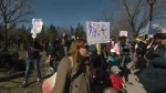 Protesters denounce budget cuts to public daycares