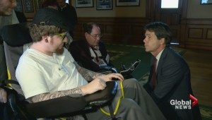 Post-stroke patients confront Ontario health minister