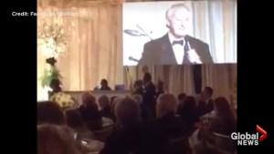 Brian Mulroney serenades Donald Trump with 'When Irish Eyes are Smiling' at Mar-a-Lago