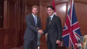 PM Trudeau welcomes Prince Harry to Toronto