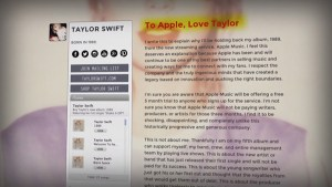 Taylor Swift gets Apple to change its tune on paying  artists royalties for its new streaming service