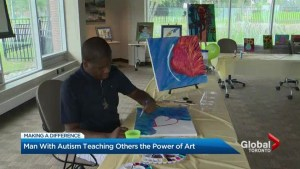 Making a Difference – 17-year-old Ontario artist inspires children with autism and special needs to paint