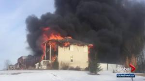 Escaping house fire 'second-scariest day' of Edmonton-area man's life