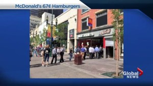 Canadians go crazy for 67 cent burgers