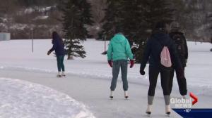 Skating trails pop up in Edmonton