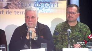 Quebec premier clarifies role of military in flood response