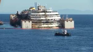Costa Concordia ready to be towed