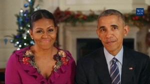 U.S. President Obama and First Lady wish Americans a Merry Christmas