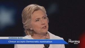 Hillary accepts Democratic nomination