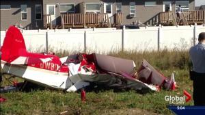 Pilot dead after plane crash in Blackfalds, Alberta