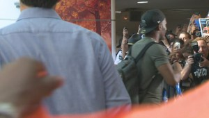 Soccer star Didier Drogba arrives in Montreal