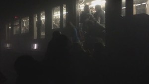 Metro passengers flee train in tunnel following attack at Belgian metro station