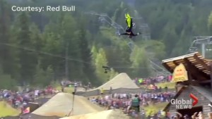 Canadian pulls off almost flawless bike trick to win Red Bull Joyride