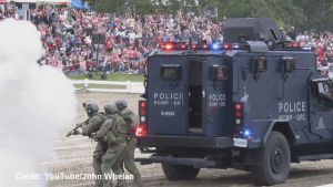 """RCMP put on """"paramilitary"""" demo during RCMP musical ride"""