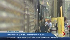 BIV: Via Rail paid $2M to competitors in 2013