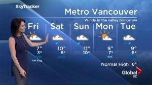 BC Evening Weather Forecast: Nov 17