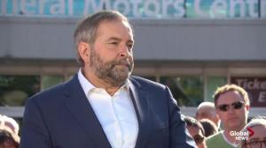 Mulcair says NDP willing to 'work together' but Trudeau keeps shutting door