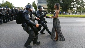 Woman in 'iconic' Baton Rouge image meets photographer for the first time
