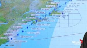 Maritimes bracing for arrival of Hurricane Arthur