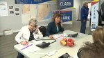 Christy Clark stops by campaign office in West Kelowna