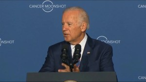 Joe Biden calls for a 'culture of progress' when it comes to curing cancer