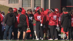Calgary Stampeders return to practice after shooting death of Mylan Hicks