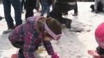 Syrian refugee children enjoy snow for first time