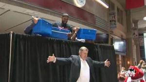 MLSE President Tim Leiweke and Leafs' Nazem Kadri take ice bucket challenge