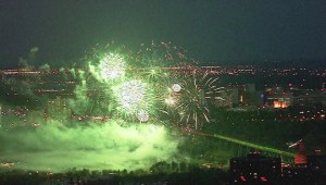 Highlights from the Canada Day fireworks in Edmonton
