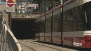Vehicle travels wrong way, gets stuck in TTC tunnel