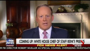 Sean Spicer says he told Trump it was in best interests of administration he step aside