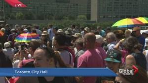 Pride Week kicks off with flag raising at City Hall