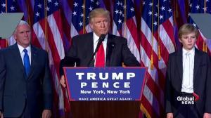 Donald Trump announces Hillary Clinton called to concede election