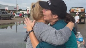 'They're okay': woman breathes sigh of relief finding out parents are safe from flooding