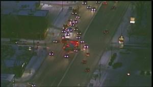 Main Street crash sends pedestrian to hospital