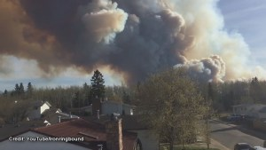 Smoke from wildfire near Fort McMurray spreads over city
