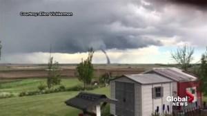 Viewer Video: Tornado spotted near Three Hills, Alberta