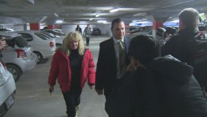 Patrick Brazeau leaves courthouse after first day of complainant testimony