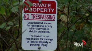 'No tresspassing' signs declare popular Mount Seymour trails off limits