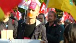 Protesters in Paris march against EU-Canada free trade agreement