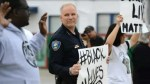 U.S. police union furious at police chief marching in uniform with protesters